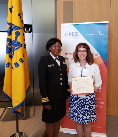 Justine Gorney and CDR Oluchi Elekwachi of the United States Public Health Service