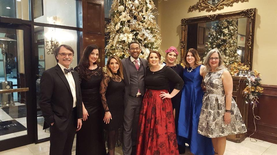 Pharmacy faculty at the 2018 ball