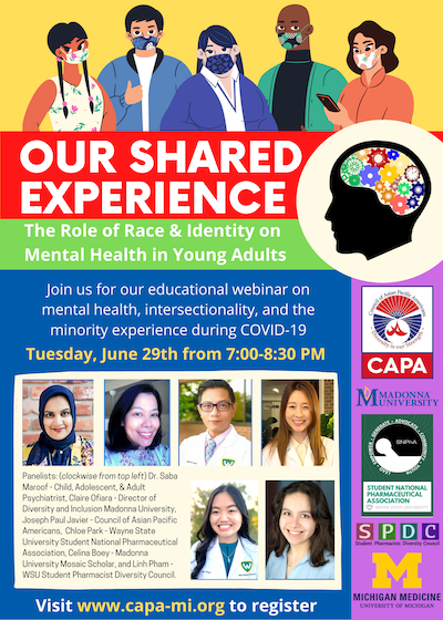 Flier for Our Shared Experience webinar