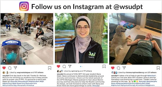 Follow us on Instagram at @wsudpt